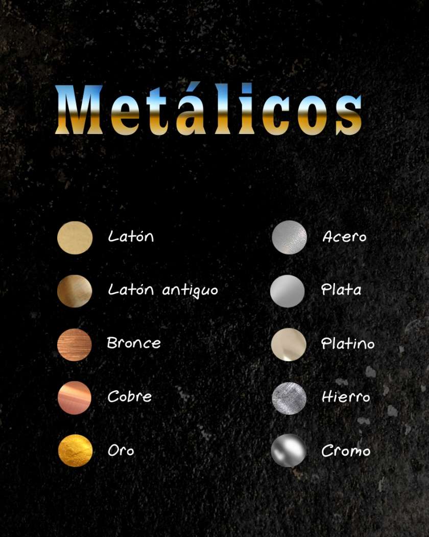 colores metalicos