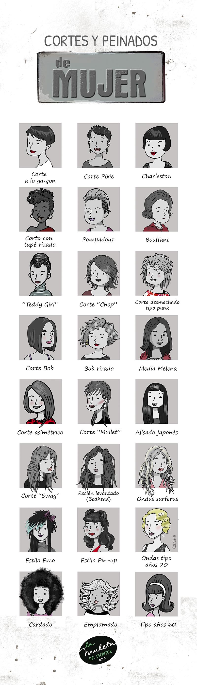 cortes y peinados de mujer