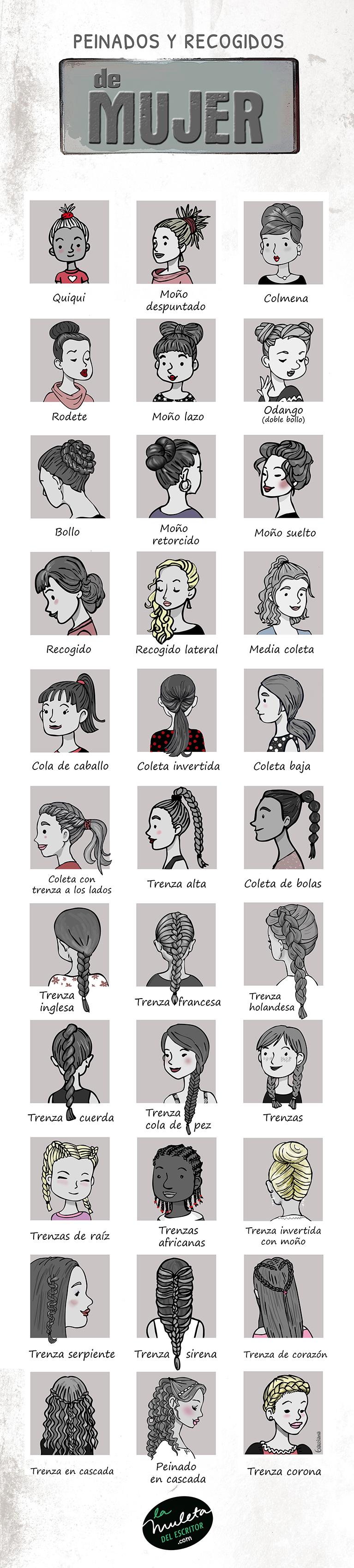 peinados y recogidos de mujer