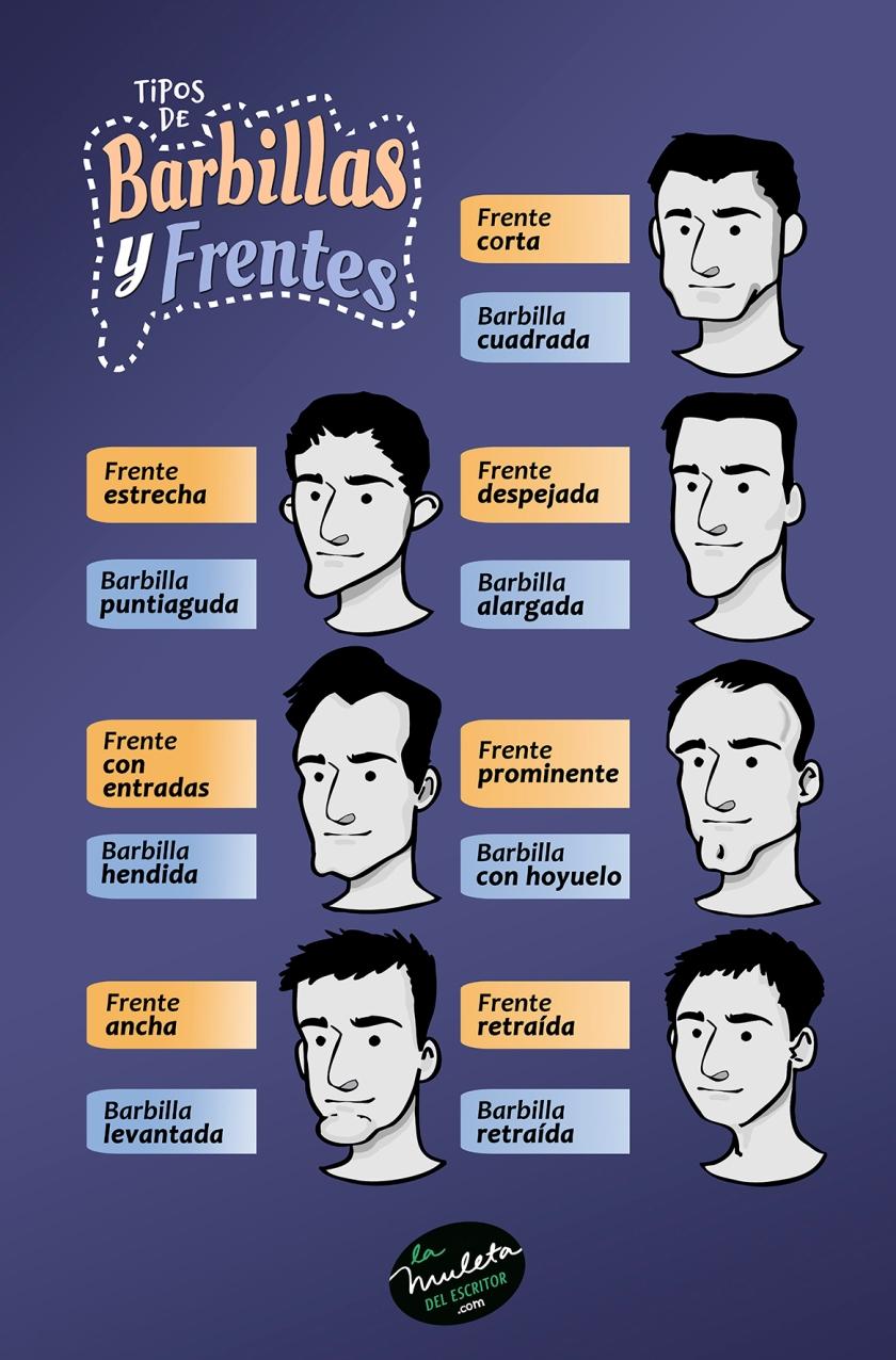 tipos de barbillas y frentes
