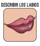 boton describir los labios